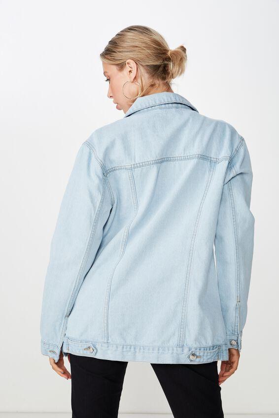 Vintage Boyfriend Denim Jacket, SUMMER BLEACH BLUE