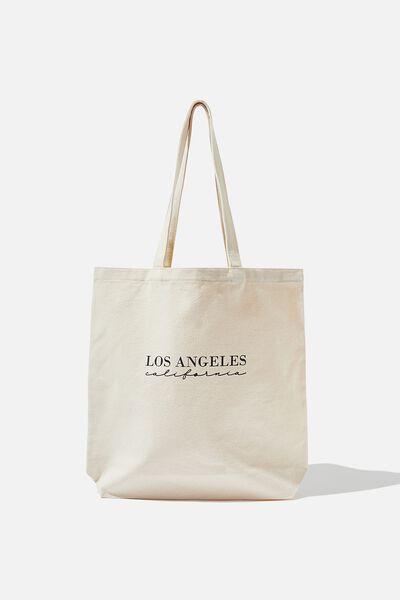 Canvas Tote, NATURAL/LOS ANGELES