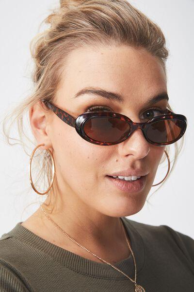 Tori Oval Sunglasses, LEOPARD