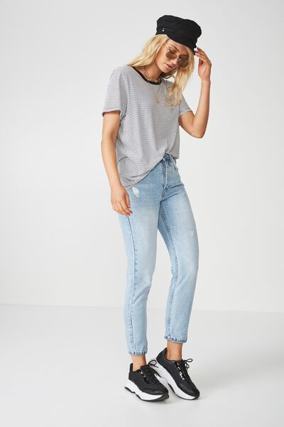 The Cool Mom Denim Jean, SALTY BLUE