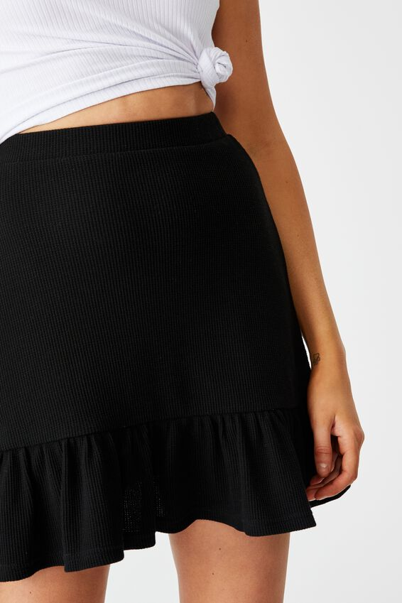 Hope Tiered Skirt, BLACK