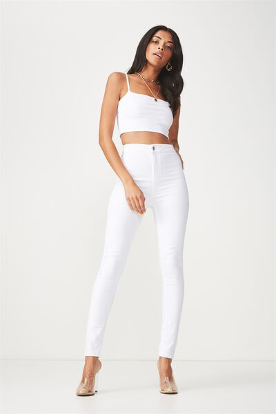 The Sky High Denim Jean, CLEAN WHITE