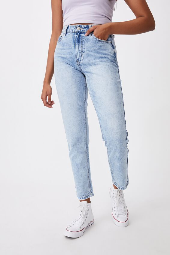 The Mom Jean, ELECTRIC BLUE