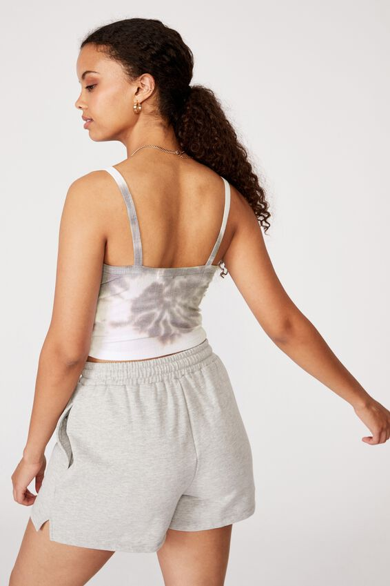 Ruby Ruched Cami, TIE DYE (WHT/GRY)