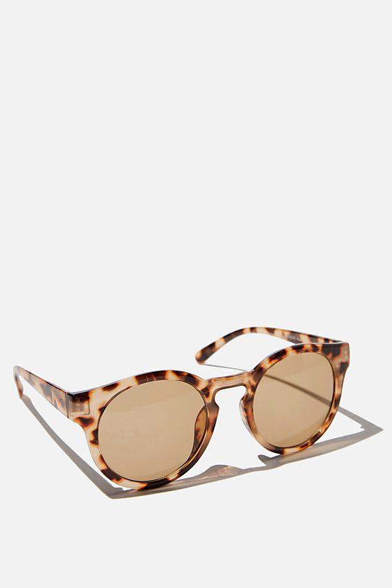Lydia Round Sunglasses, TORTOISE SHELL