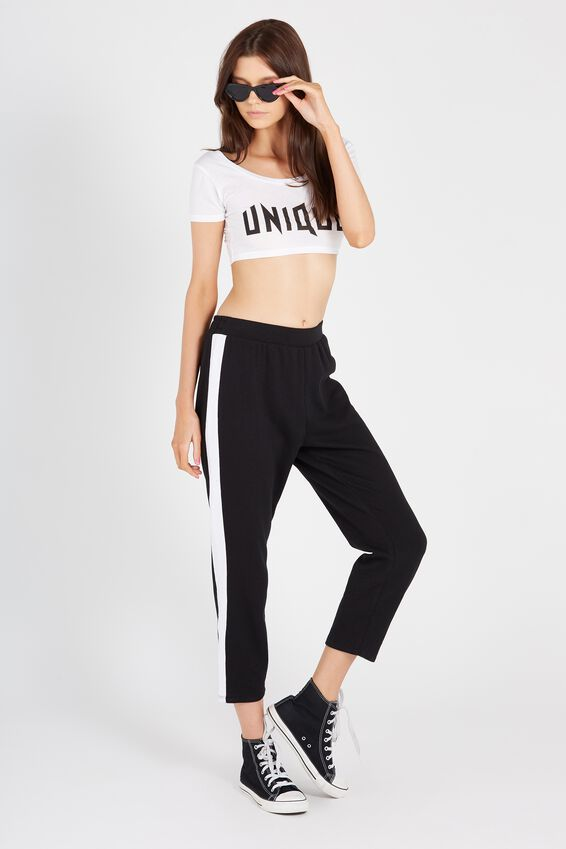 Side Stripe Crop Track Pant by Cotton On