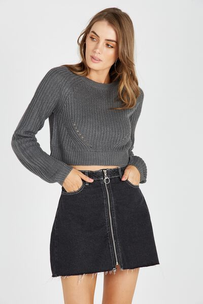 The Harper Knit Top, CHAR MARLE
