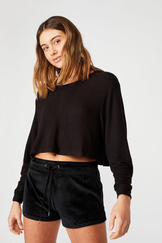 Super Soft Short Shorts, BLACK