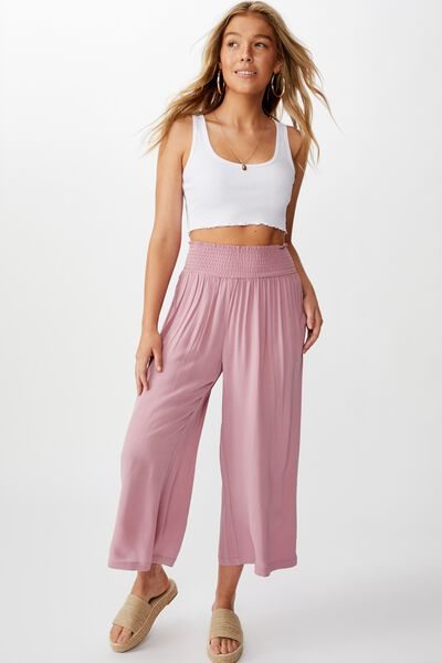 Rosie Shirred Pant, ANTIQUE ROSE