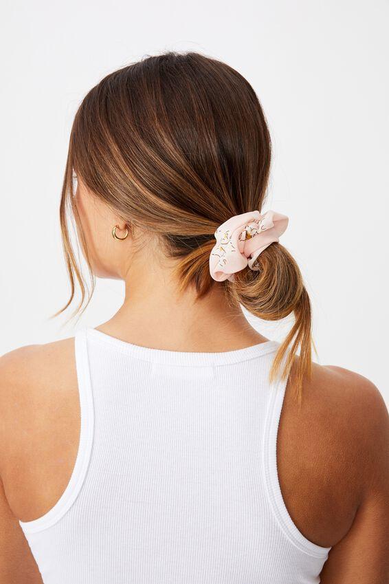 Flower Print Scrunchie, PINK FLORAL