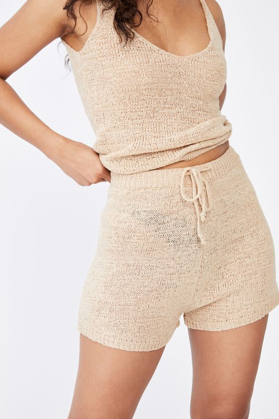 Lindsey Knit Short Co Ord Set, FRAPPE