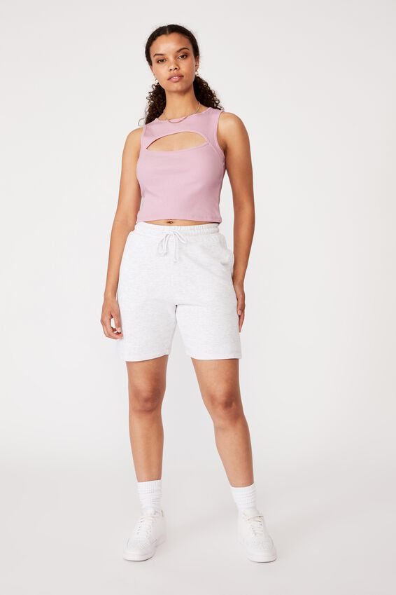 Romina Cut Out Crop Tank, COOL PINK