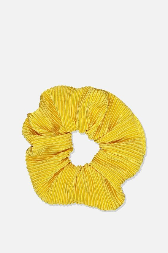 Plush Scrunchie, PLEATED HONEYCOMB