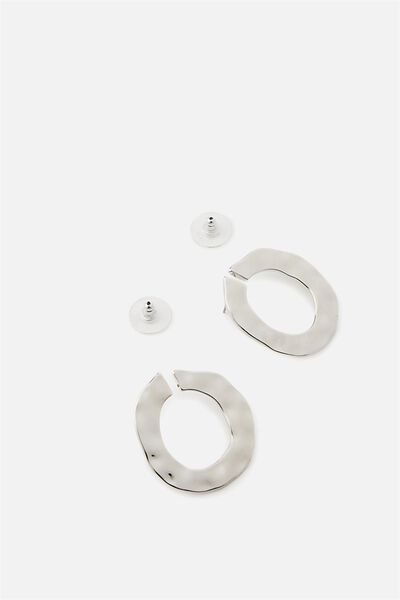 Hammered Hoops, SILVER