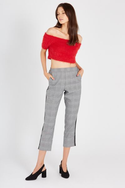 Tailored Crop Check Pant, DOVER CHECK