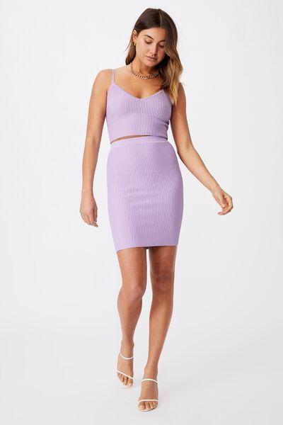 Mina Tube Skirt Co Ord, ORCHID BLOOM