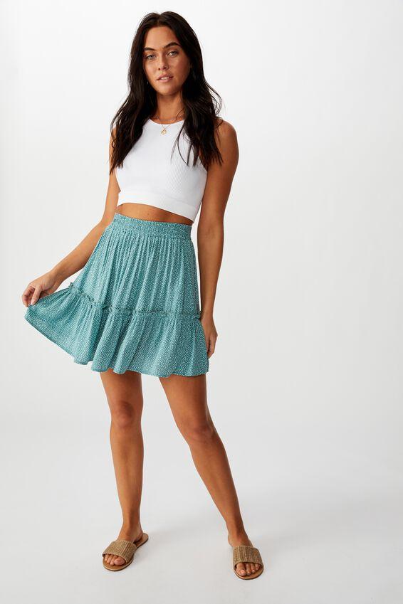 Kaiya Frill Hem Skirt, RICE SPOT/SAGE