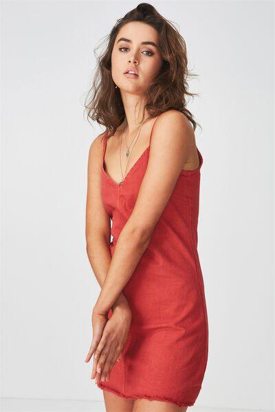 The Falls Denim Dress, RED