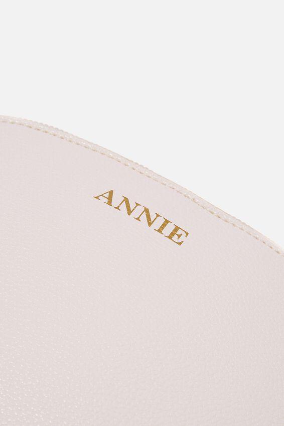 Personalised Bridget Crossbody Bag, WHITE PEBBLE