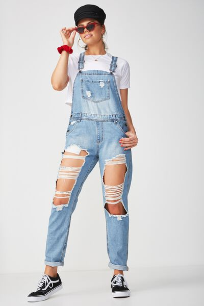 Ultra Destroy Denim Overall, ORIGINAL BLUE