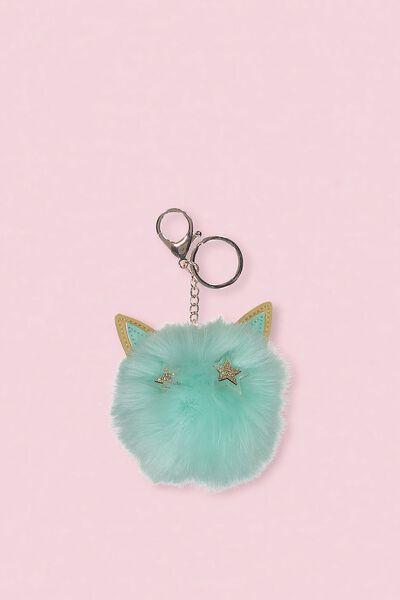 Faux Fur Star Bunny Keyring, MINT