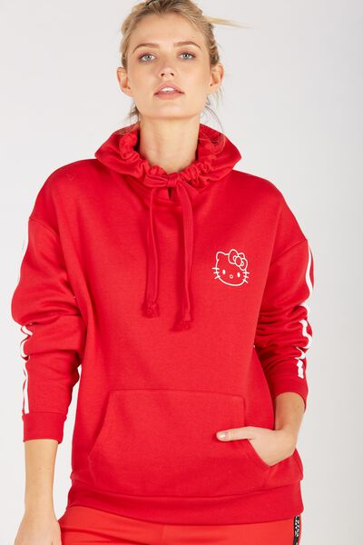 Hello Kitty Oversized Hoodie, RED/HELLO KITTY