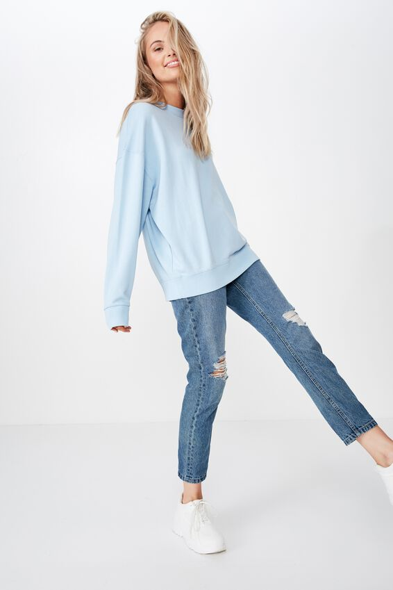 Sia Crew Neck Sweat, WASHED CLOUD BLUE