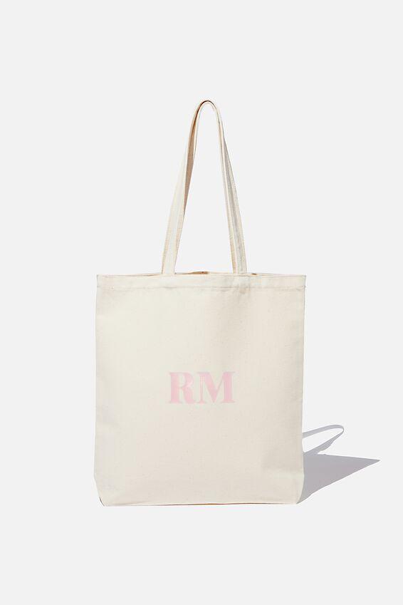 Personalised Canvas Tote Bag, NATURAL BEIGE