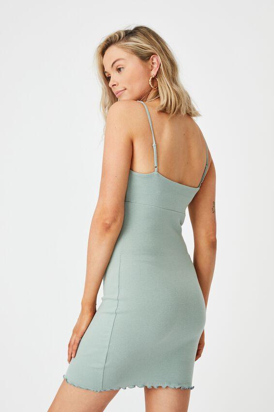 Francesca Knit Mini Dress, SOFT MOSS