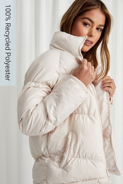 Jane Puffer Jacket, COOKIES AND CREAM