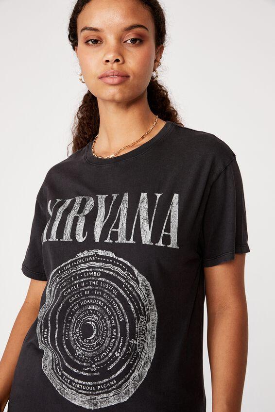 Nirvana Tee, VINTAGE WASHED BLACK/LCN LIV NIRVANA CIRCLE