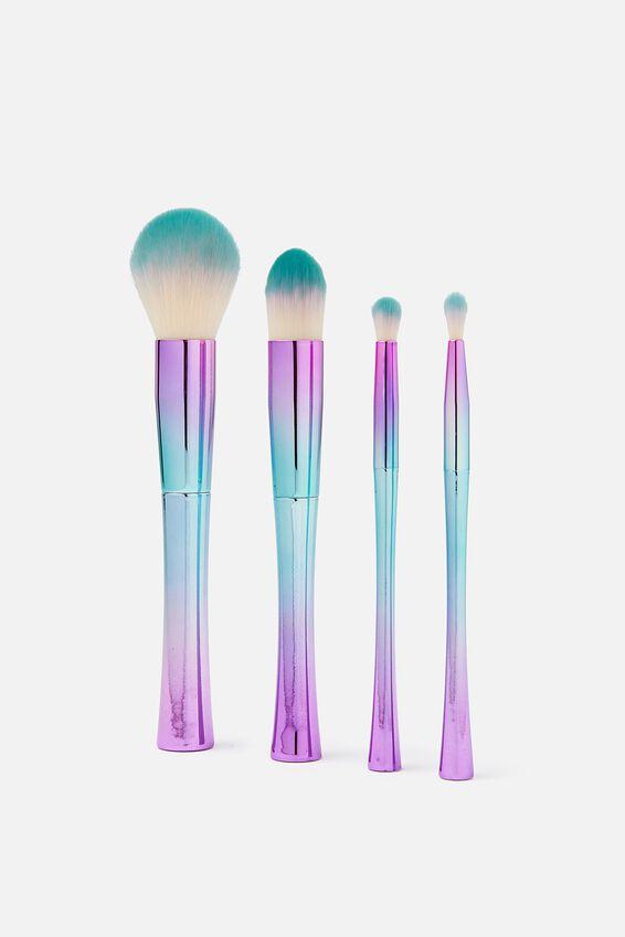 Makeup Brush Set, HOLOGRAPHIC