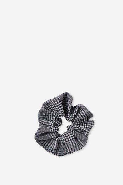 Scrunchie, GREY CHECK