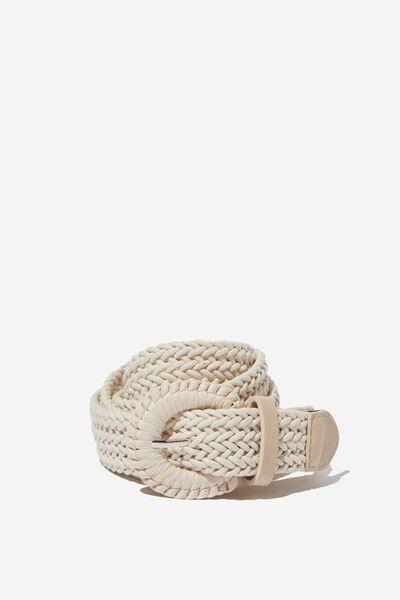Emmy Textured Belt, NATURAL