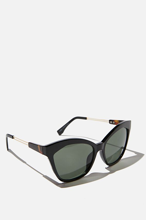 Mabel Cateye Sunglasses, BLACK