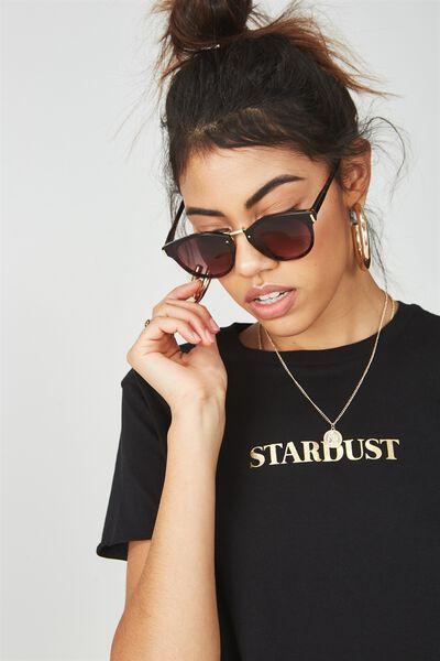 Brooke Preppy Frame Sunglasses, TORT