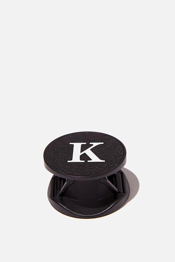 Personalised Phone Grip, BLACK TEXTURE