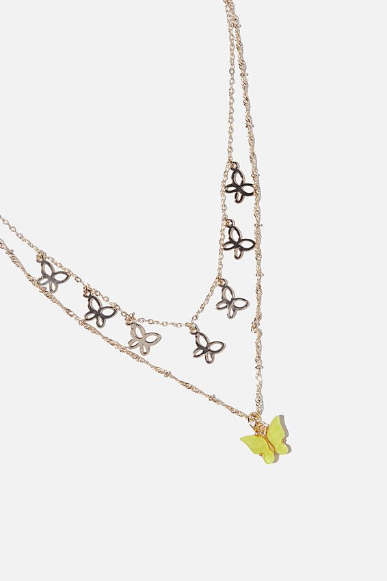 Butterfly Chain Necklace, MINI BUTTERFLY