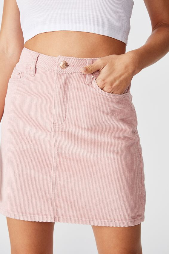 Remi Cord Mini Skirt, ANTIQUE ROSE