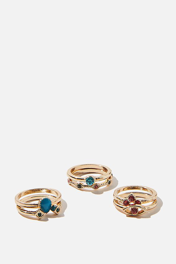 Stack Rings, MULTI COLOUR