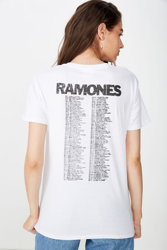 Ramones World Tour Tee, WHITE/RAMONES WORLD TOUR