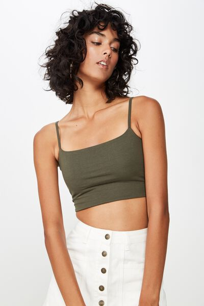 ae839252a1 Basic Thin Strap Crop