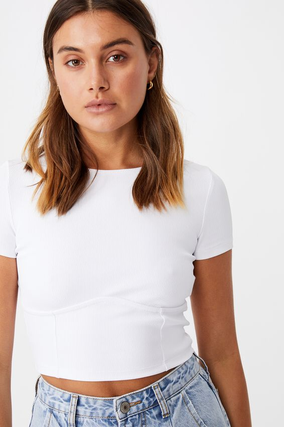 Tiffany Under Bust Top, WHITE