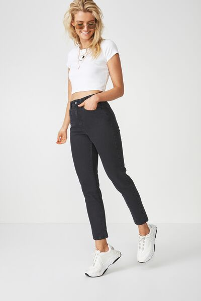 The Cool Mom Denim Jean, BLACK