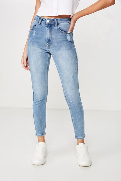 The Skinny Premium Jean Short, LAKE BLUE