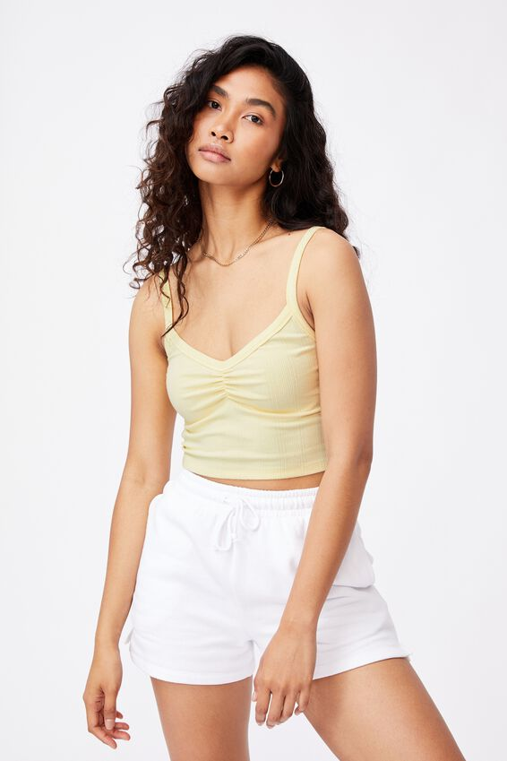 Ruby Ruched Cami, DOUBLE CREAM