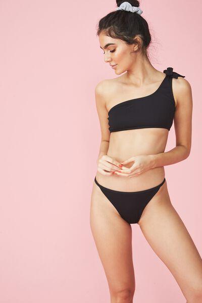 Jenna String Bikini Bottom, BLACK