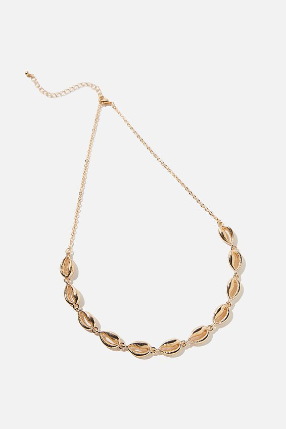 Gold Shell Necklace, GOLD SHELLS