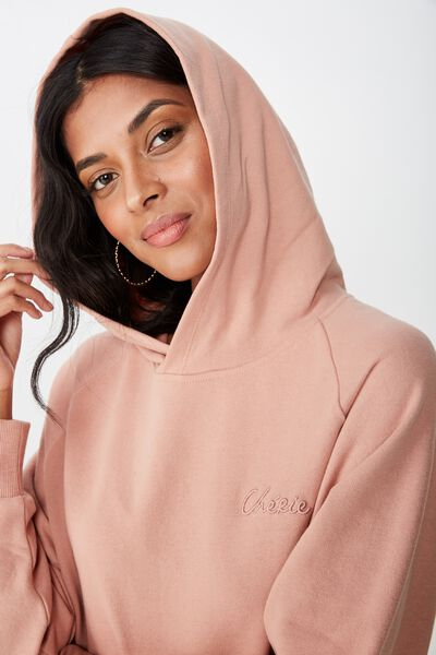 Adele Draw String Sweat, VINTAGE PINK/CHERIE