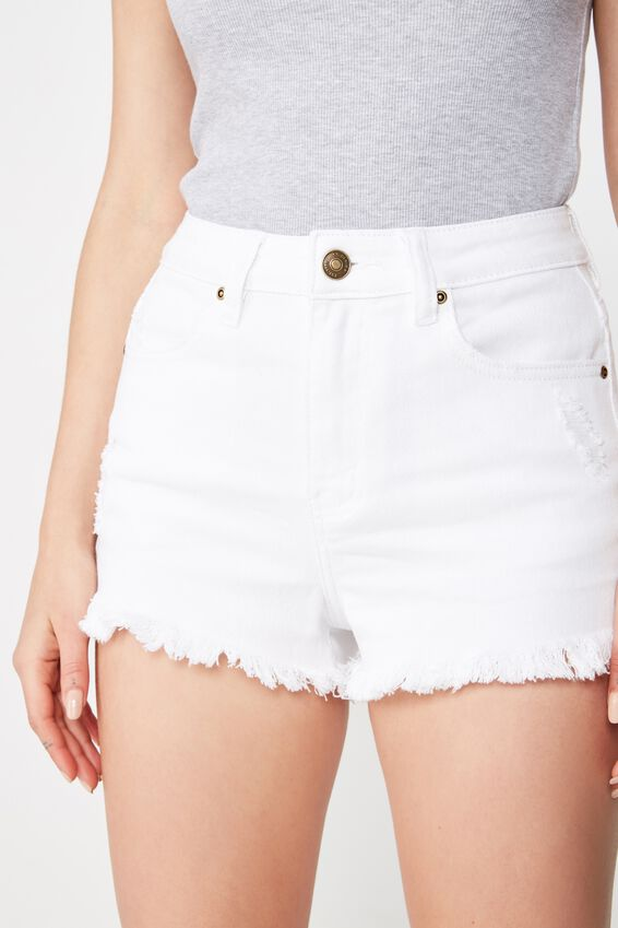 Bondi Denim Short, WHITE